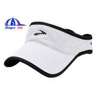 Wholesale Lightweight Waterproof Sun Visor Hats , Sunvisor Sun Baseball Cap With Binding from china suppliers
