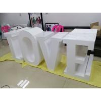 Quality White Large Wooden LED Love Marquee Letters Free Standing For Wedding Lights for sale