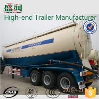 Wholesale Mechanical Suspension Dry Bulk Cement Trailer 45cbm , Cement Tanker Trailer from china suppliers