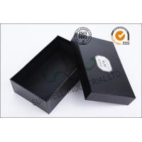 Wholesale Black Luxurious Leather Belt Corrugated Packaging Boxes Custom Logo Printed from china suppliers