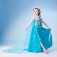 Buy cheap Frozen dress for elsa 2014 Christmas children dress princess party dress cosplay from wholesalers