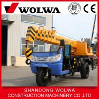 Quality chinese manufacturer Wolwa 3T tricycle truck crane for sale for sale