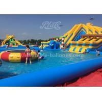 Wholesale Customized Design Inflatable Amusement Park With Big Pool And Slide For Kids from china suppliers