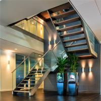 Wholesale Easy Glass frameless glass stair balustrade with Aluminum U base channel from china suppliers