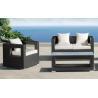 Buy cheap pe rattan outdoor sofa or wicker garden furniture or patio wicker sofa WS-003 from wholesalers