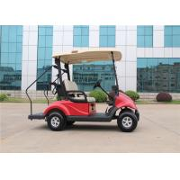 Wholesale Coral Red 2 Seater Electrical Golf Carts With Caddy Plate / Curtis Controller from china suppliers
