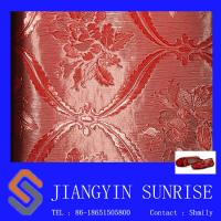 Buy cheap Pvc Embossed Red Color Bag Faux Leather For Ladies Purses / Handbags Non - Toxic from wholesalers