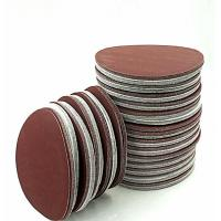 Wholesale Red Brown Colored Sand Paper Self Adhesive Sandpaper Pad 60# / 80# Grit from china suppliers