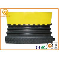Wholesale Heavy Duty Rubber Yellow Jacket Cable Covers 3 Channels 900 x 500 * 75 mm 17kg Weight from china suppliers