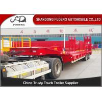 Quality Heavy Duty 70T Three Axle Low Bed Semi Trailer With Spring Ramp for sale