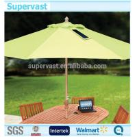 Wholesale Outside Solar Powered Patio Umbrella Sunshade With USB Charge Connector from china suppliers