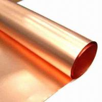 Wholesale Copper Foil with Thickness of 0.005 to 1.2mm from china suppliers