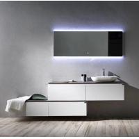 Wholesale Modern Style Plywood Bathroom Vanity Cabinets With Tops Lighted Makeup Mirror from china suppliers