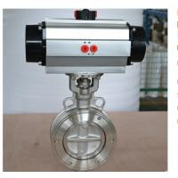 Buy cheap 304 Air Pressure Relief Valve wafer Connection Pneumatic butterfly Valve from wholesalers