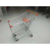 Wholesale Low Carbon Metal Shopping Cart 100L With 4 Swivel 4 Inch Autowalk Casters from china suppliers
