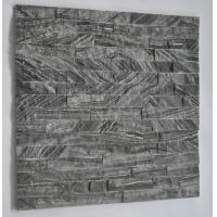 Quality Hottest Natural Black Wood Wall cladding stone,Ledgstone Tiles On Ptomotion for sale