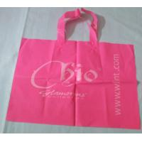 Wholesale Large Pink Side Gusset Plastic Handle Bag For Gift, grocery, vegetable...Shopping from china suppliers