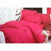 Wholesale 6 Pieces Bedding Set, Suitable for Wedding Purposes, Made of 100% Cotton from china suppliers