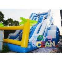 Wholesale Giant 3 Lanes Tropical Inflatable Water Slide Outdoor Slide For Kid Party Rental from china suppliers