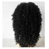 Wholesale Popular 20 Inch Kinky Curly Human Hair Full Lace Wigs Bouncy And Soft from china suppliers