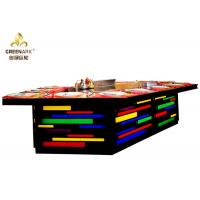 Wholesale Bridge Shape Rainbow Color Gas Teppanyaki Grill Table With Exhaustion System from china suppliers
