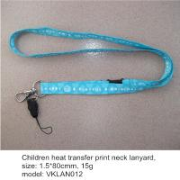 Wholesale Dyed sublimation print neck lanyards with mobile phone string, heat transfer neck lanyards from china suppliers