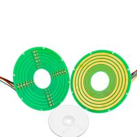 Wholesale 8 Circuits Pan Cake Slip Ring Transmitting 4 Circuits Signals Collar Mounting Compact 60mm OD from china suppliers