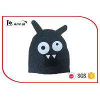 Wholesale Animal Design Applique Beanie Knit Cap Green Womens Knit Hats With Brim from china suppliers