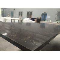 "Quality Black Marble Looking Quartz Slab Countertops Wall Backsplash 108"" X 28"" Size for sale"