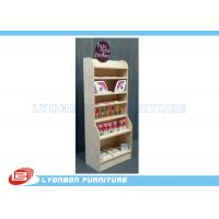 Wholesale White Natural Pine Wooden Display Stands Multi Layers For Shopping center from china suppliers