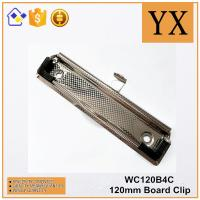 Wholesale Clipboard Accessories 120mm High Quality Checkered Nickel Plate Metal Clip from china suppliers