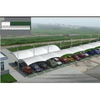 Quality Customized Waterproof PVDF Cover Double Side Car Canopy With Steel Structure for sale