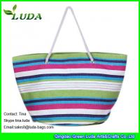 Wholesale large paper straw beach shopping bags from china suppliers