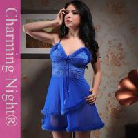Wholesale Fashionable Nylon Good Stretch Sexy Lingerie Babydoll Dress With Double Fur Skirt from china suppliers