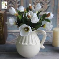 Wholesale UVG white artificial magnolia silk wedding flowers for table center pieces decorations FMA56 from china suppliers