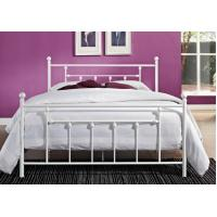 Wholesale Decorative Full Size Metal Beds , Double White Full Storage Bed Frame Platform from china suppliers