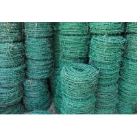 Wholesale Green galvanized PVC Coated Barbed Wire from china suppliers