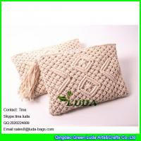 Wholesale LDMX-007 hand fasten beach handbags 2016 summer cotton rope crochet straw clutches from china suppliers
