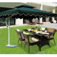 Wholesale Hormel patio conversation round dining table and chair set rattan outdoor garden furniture with umbrella / tent from china suppliers