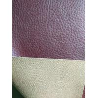 Wholesale Red Brown Faux Leather Fabric For Clothing , Faux Leather Material from china suppliers