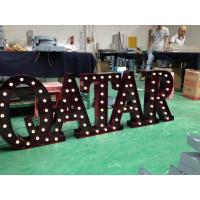 Wholesale Vintage Style LED Marquee Letter Lights , Illuminated Marquee Alphabet Lights from china suppliers