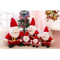 Wholesale Traditional Christmas father RED Santa 35CM Holiday Toys , stuffed plush toys from china suppliers