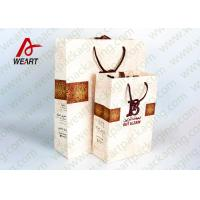 Quality Red Heart Printed Paper Gift Bags For Christmas Matt Lamination Suface for sale