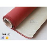 Wholesale 0.8mm 700gsm Red Silicone Coated High Silica Fabric Cloth For Fire Blanket from china suppliers