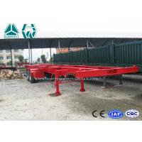 Wholesale Professional 40 Ft Long Vehicle Skeleton Low Bed Semi Trailer 2 Axles Extendable Trailers from china suppliers