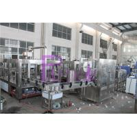 Quality PLC Control Water Production Line , 15000BPH Plastic Bottle Monoblock Filling Machine for sale