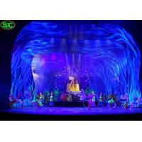 Wholesale Soft Transparent Flexible LED Curtain Display , curtain led screen MBI IC from china suppliers