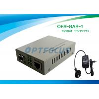 Wholesale Gigabit SFP Media Converter With 256K External Power One SFP GE Slot from china suppliers