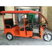 Quality Red Electric Passenger Tricycle Three Wheeler Auto Rickshaw With Foot Brake for sale