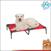 Wholesale dog beds elevated Travel best elevated dog bed Steel-Framed Bed Cot with Knitted Fabric from china suppliers
